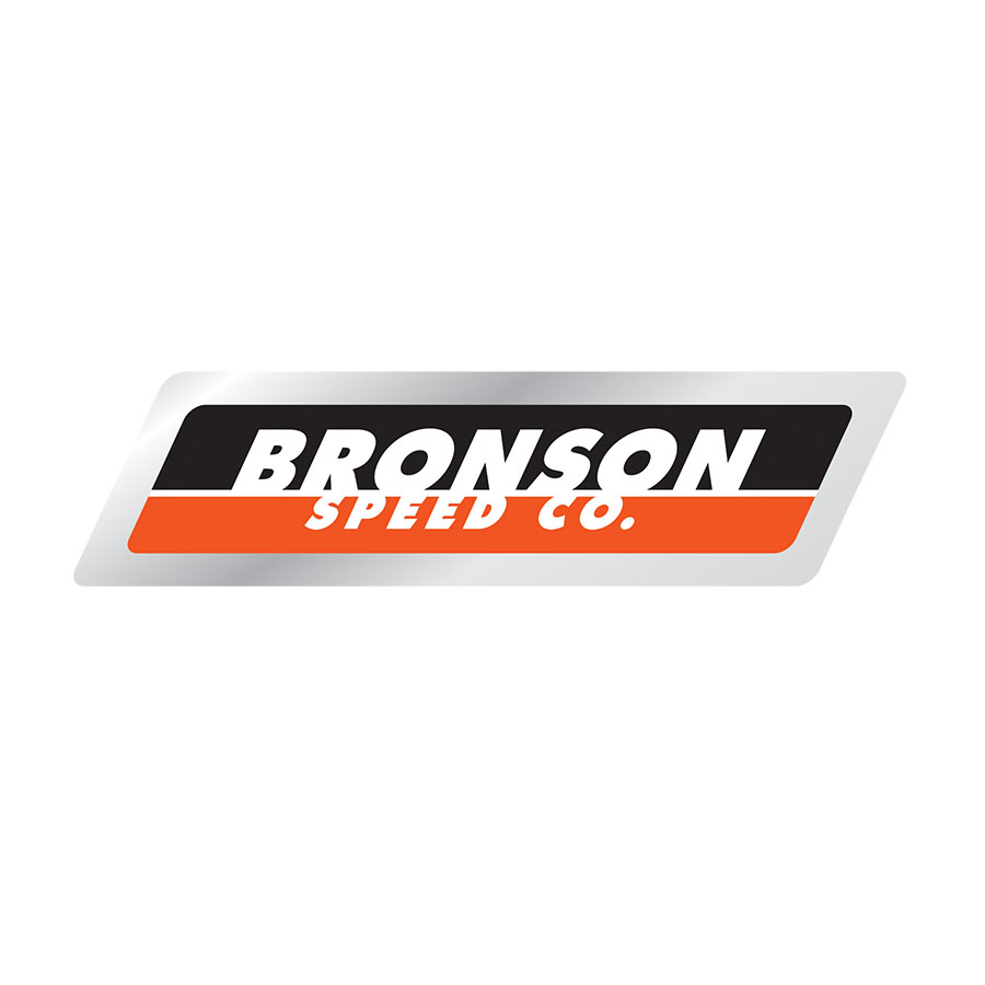 Bronson Strip Logo Sticker 4.9 in x 1.25 in PK/25