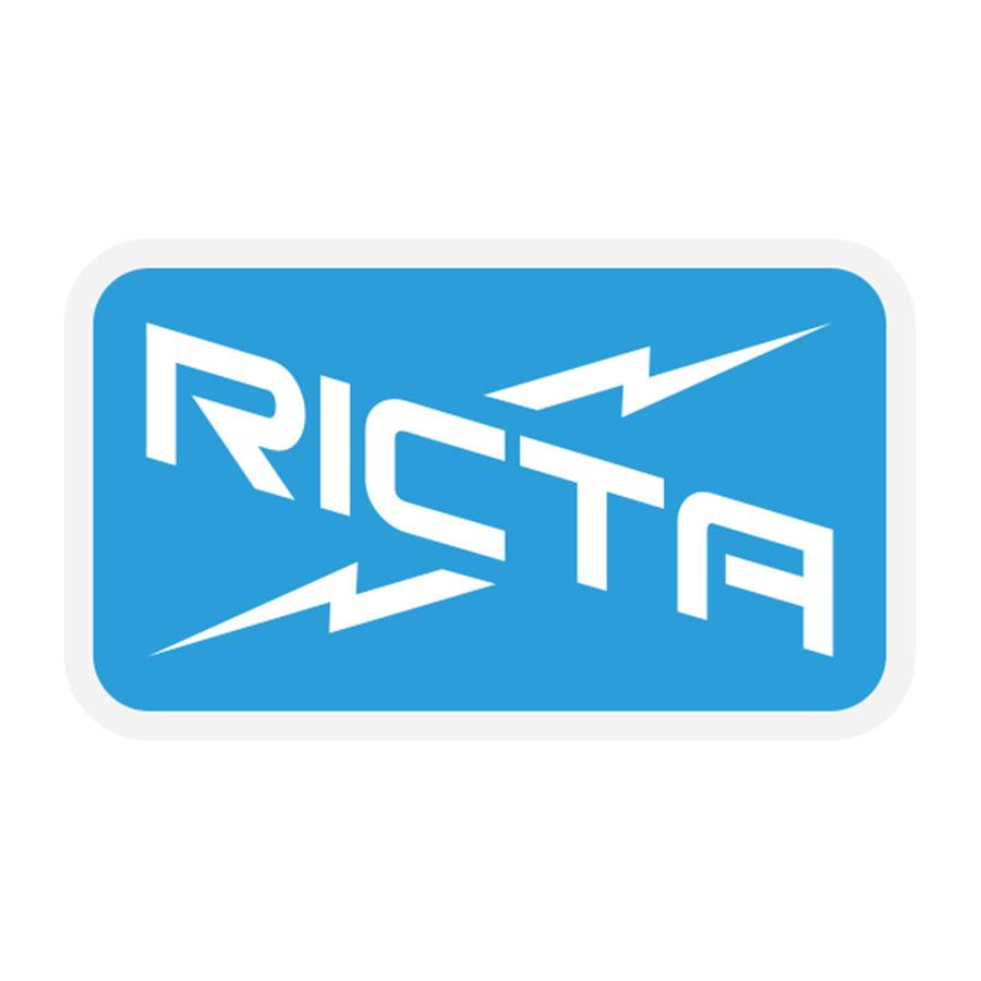 Ricta Logo Sticker 3.22 in x 1.89 in PK/25