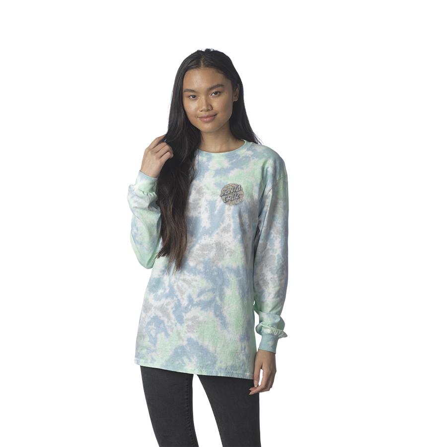 Funky Dot Boyfriend L/S Santa Cruz Womens T-Shirt