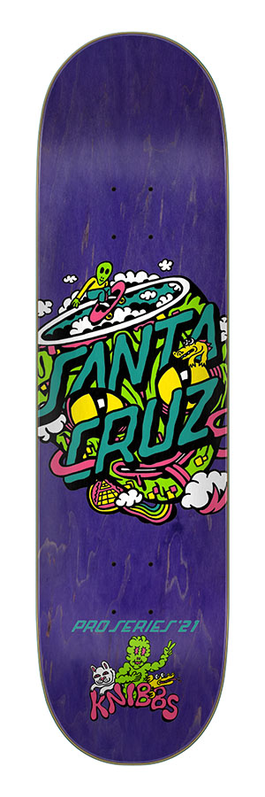 8.27in x 31.83in Knibbs Reptilian Dot Santa Cruz Skateboard Deck