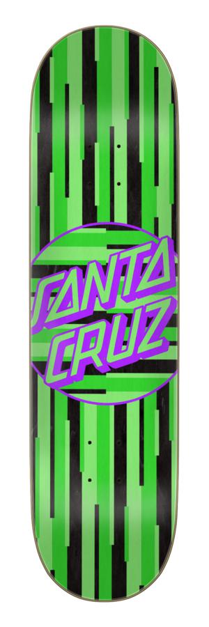 8.125in x 31.7in Strip Stripe Dot Team Santa Cruz Skateboard Deck