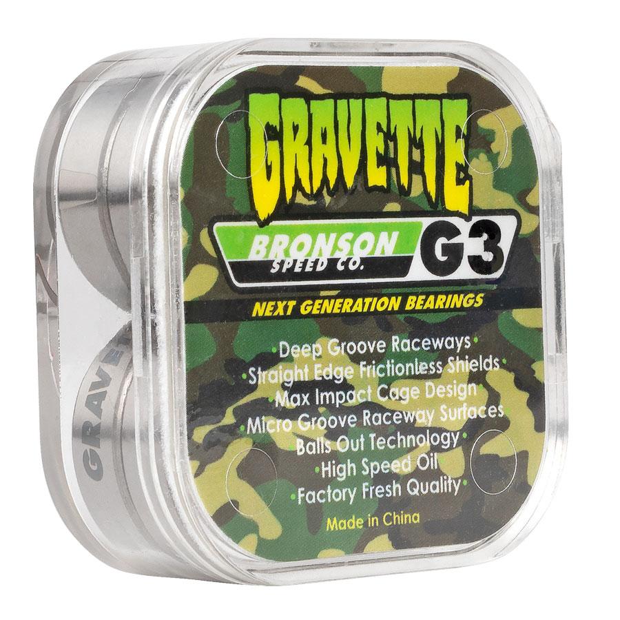 David Gravette Pro G3 BOX/8 Bronson Speed Co. Skateboard Bearings