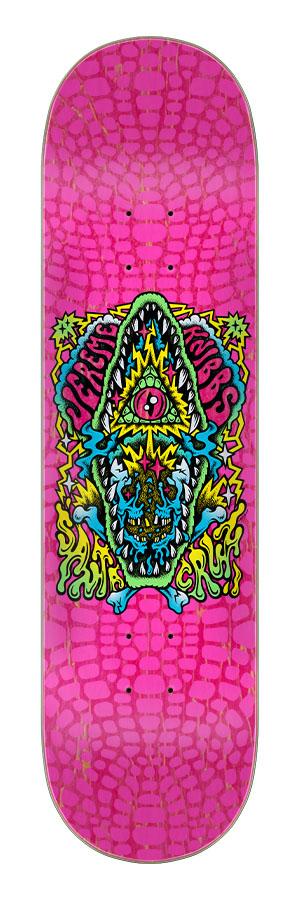 8.25in x 31.80in Knibbs Gator Trip Santa Cruz Skateboard Deck