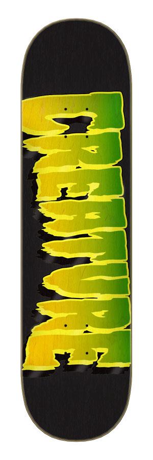 8.25in x 31.80in Logo Outline Stumps Creature Skateboard Deck