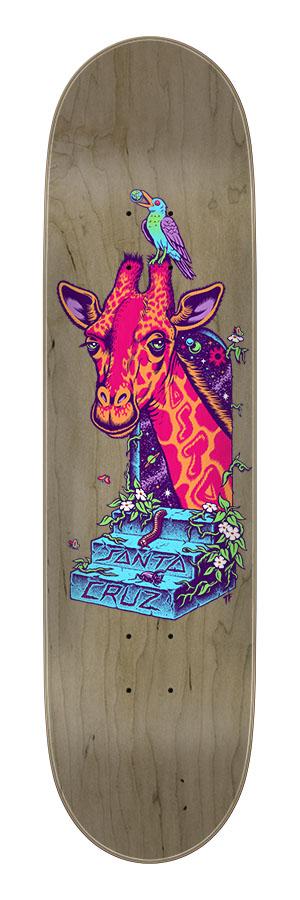 8.00in x 31.50in Asta Giraffe Santa Cruz Skateboard Deck