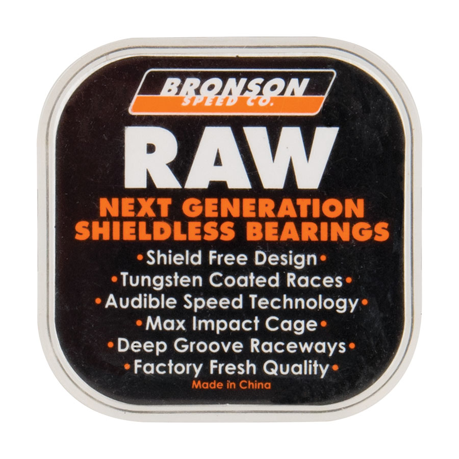 Raw BOX/8 = 1 set Bronson Speed Co. Skateboard Bearings