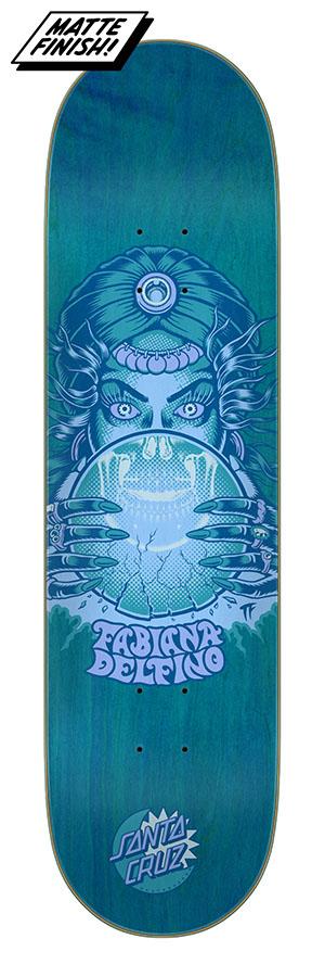 8.25in x 31.83in Delfino Fortune Teller Santa Cruz Skateboard Deck